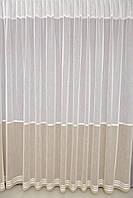 Турецкая гардина лён двухцветная на окна  (обработка сторон + 40 грн), фото 1