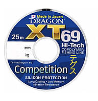 Леска Dragon XT69 Hi-Tech Competition 25 м, 0.10mm.,1.65kg.