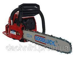 Бензопила Goodluck 5800 E 2 шины 2 цепи,плавный пуск,металл. стартер,праймер