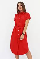 S, M, L | Зручне жіноче плаття-сорочка Sandy, червоний S (42-44)