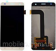 Дисплей (LCD) Fly FS504 Cirrus 2 Nomi i504 с тачскрином, белый оригинал (PRC)