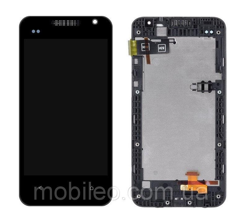 Дисплей (LCD) HTC Desire 300 301e с тачскрином, чёрный рамка