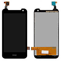 Дисплей (LCD) HTC Desire 310 Dual Sim с тачскрином, чёрный (127x63мм)