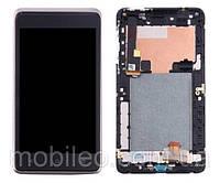 Дисплей (LCD) HTC Desire 400 Dual Sim | T528w | One SU с тачскрином, чёрный рамка черная