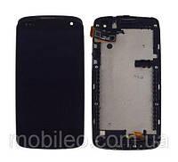 Дисплей (LCD) HTC Desire 500 | 506e с тачскрином, чёрный рамка