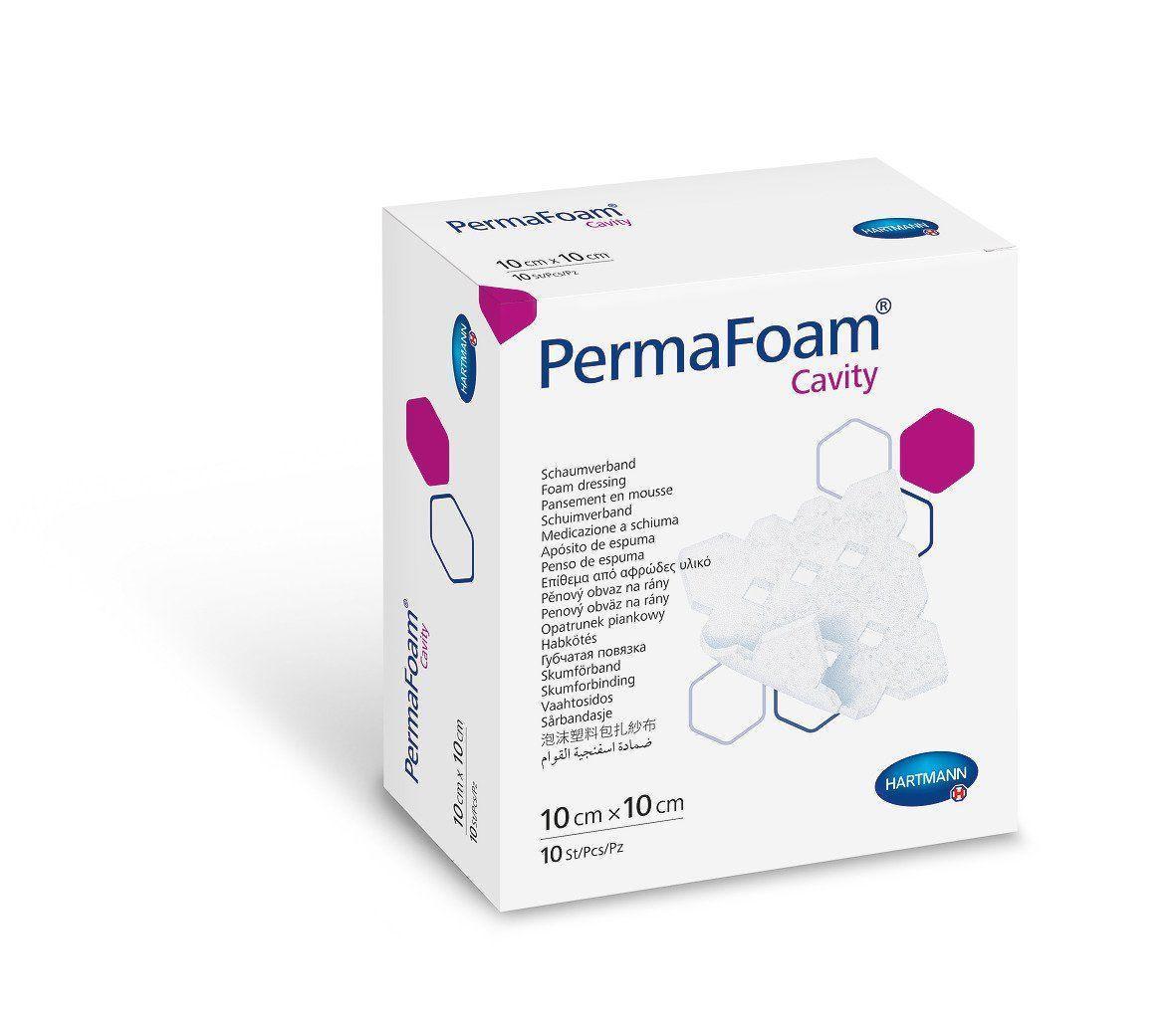 PermaFoam Cavity 10х10 см Губчатая повязка для тампонирования глубоких ран