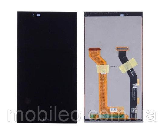 Дисплей (LCD) HTC One E9 Plus A55 с тачскрином, чёрный