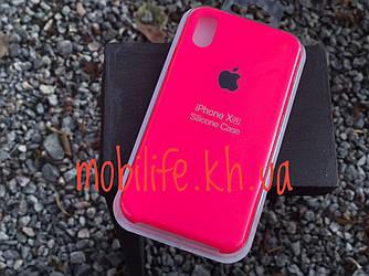 Чехол Silicon Case Original Apple iPhone XR/Ярко-Розовый/Высокое Качество/