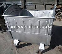 Контейнер для мусора 1100 л, бу, металлический