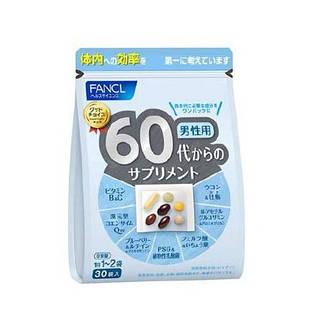 FANCL японские премиальные витамины + все что нужно для мужчин 60+ лет, 30 пакетов на 30 дней