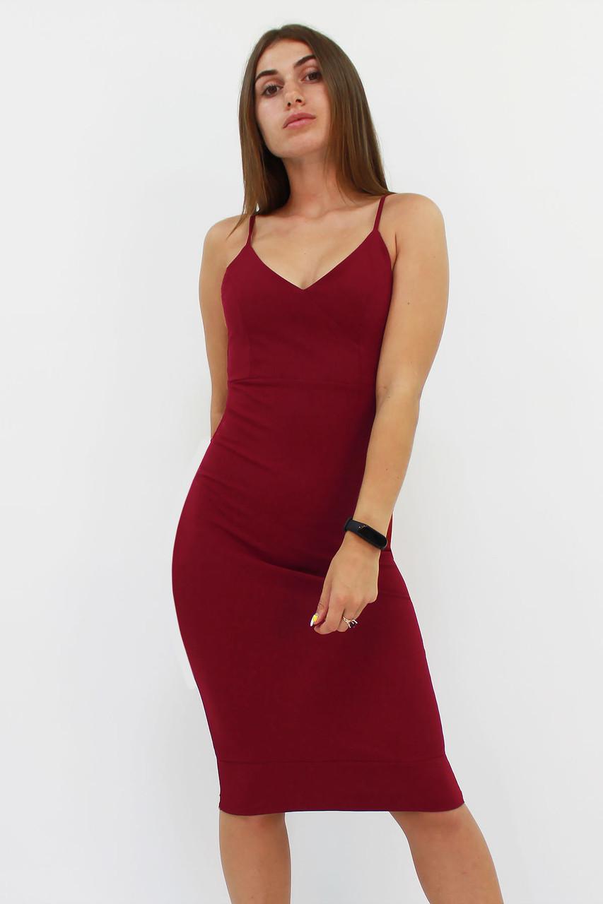 S, M, L / Облягаюче коктейльне плаття Balis, марсала