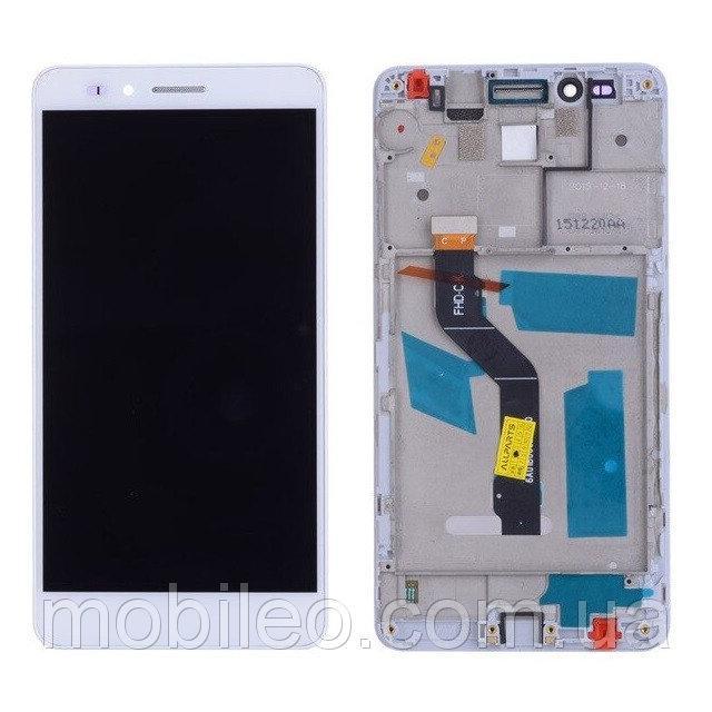 Дисплей (LCD) Huawei Honor 5X | GR5 (2016) | KIW-L21 с тачскрином и рамкой, белый