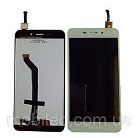 Дисплей (LCD) Huawei Honor 6C Pro | Honor V9 Play | JMM-L22 с тачскрином, белый (прямой шлейф)