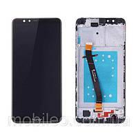 Дисплей (LCD) Huawei Honor 7X Dual Sim | BND-L21 с тачскрином и рамкой, черный