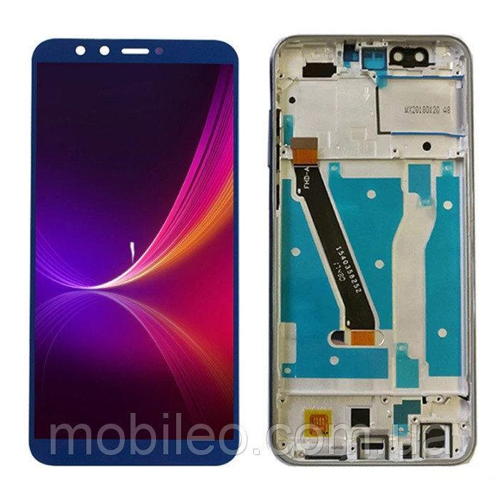 Дисплей (LCD) Huawei Honor 9 Lite | LLD-L31 с тачскрином и рамкой, синий
