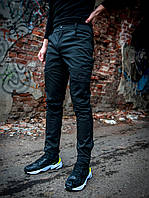 Теплые карго штаны Intruder SoftShell черные на флисе