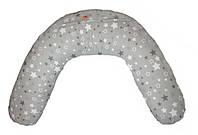 Подушка для беременных и кормления CLASSIC ТМ Лежебока Холлофайбер Звёздочки на сером