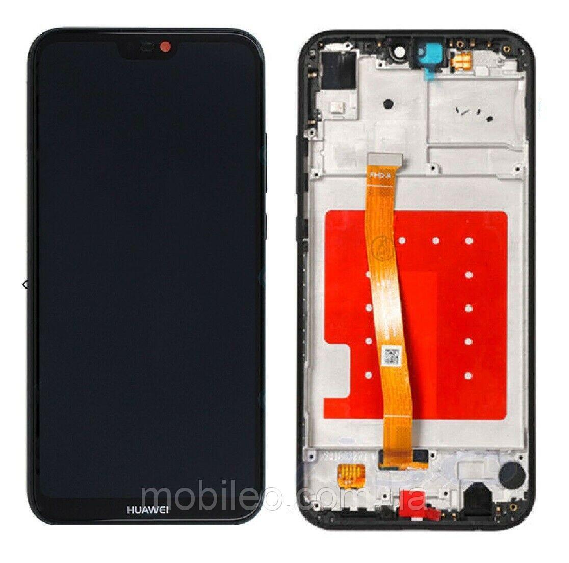 Дисплей (LCD) Huawei P20 Lite | Nova 3e | ANE-L21 | ANE-LX1 с тачскрином и рамкой, чёрный