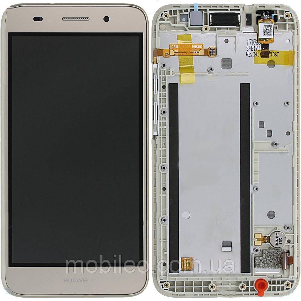 Дисплей (LCD) Huawei Y3 (2017) | Y5 Lite (2017) | CRO-L02 | CRO-L22) с тачскрином и рамкой, белый