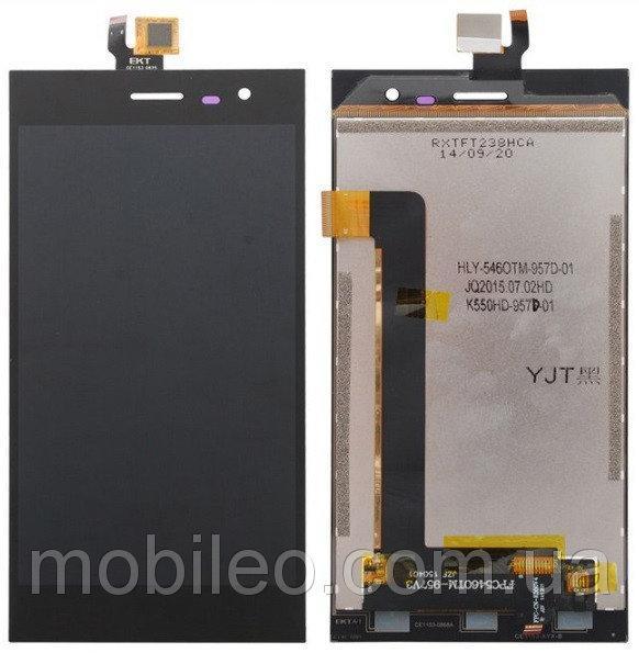 Дисплей (LCD) Leagoo Lead 1i с тачскрином, чёрный