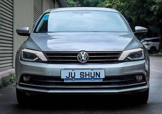 Передние фары VW Jetta 6 тюнинг Led оптика