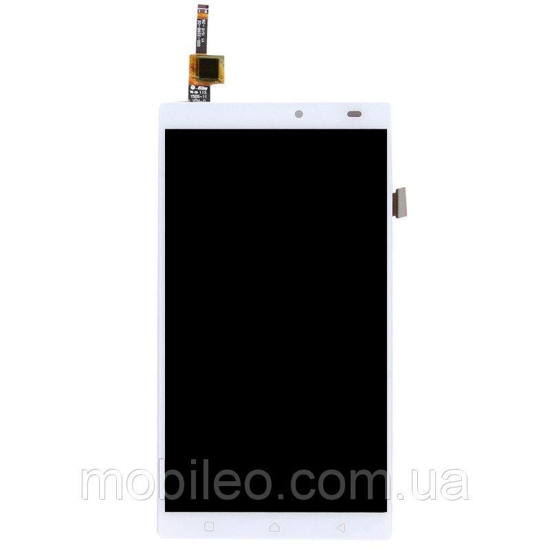 Дисплей (LCD) Lenovo A7010 X3 Lite   Vibe K4 Note с тачскрином, белый оригинал (PRC)
