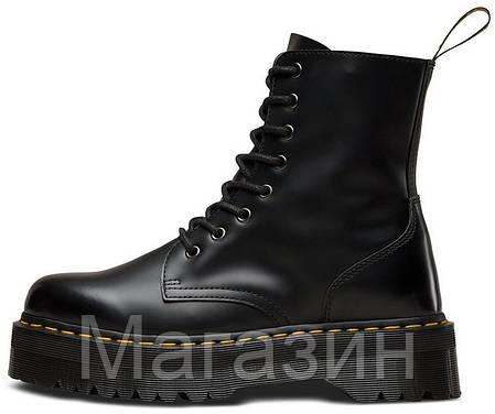Зимние женские ботинки Dr. Martens Jadon Black FUR Доктор Мартинс Жадон черные С МЕХОМ, фото 2