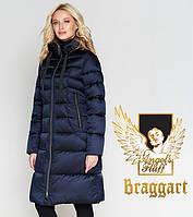 Воздуховик Braggart Angel's Fluff 47250 | Женская куртка на зиму синяя, 58 размер