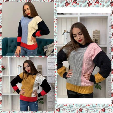 Женский вязаный свитер /разные цвета, 42-46, PF-3110/, фото 2