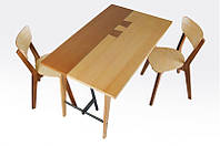 Обеденный стол Микс Мебель Лофт Дублин Ясень/Натуральный орех 120х75 см
