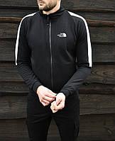 Кофта мужская зимняя на замке в стиле The North Face X-black