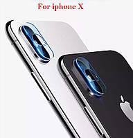 Защитное стекло на камеру для iPhone X