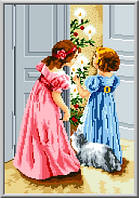"""Схема для вышивки крестом """"Ночью в Рождество"""""""
