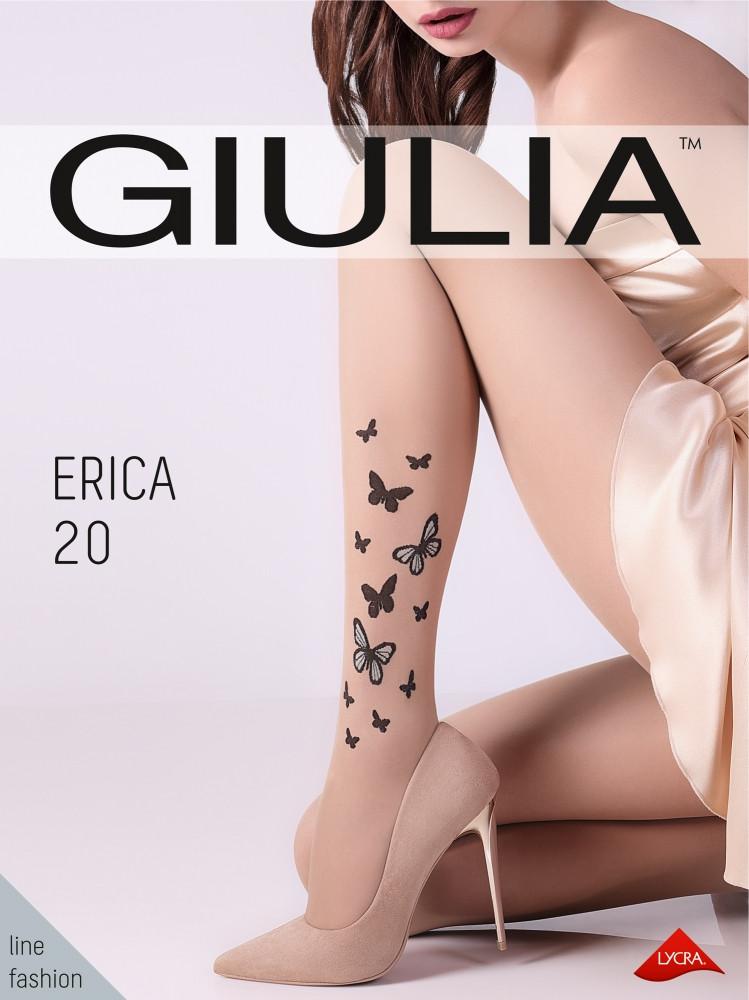 """Фантазийные колготки Giulia Erica 20 Den с принтом """"бабочка"""""""
