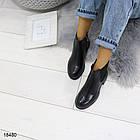 Женские демисезонные ботинки черного цвета, из эко кожи 41 ПОСЛЕДНИЕ РАЗМЕРЫ, фото 2
