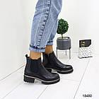 Женские демисезонные ботинки черного цвета, из эко кожи 41 ПОСЛЕДНИЕ РАЗМЕРЫ, фото 3