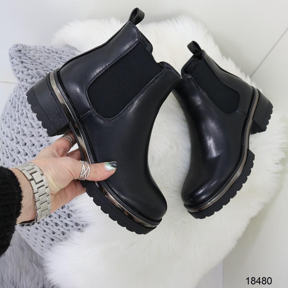 Женские демисезонные ботинки черного цвета, из эко кожи 41 ПОСЛЕДНИЕ РАЗМЕРЫ