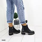Женские демисезонные ботинки черного цвета, из эко кожи 41 ПОСЛЕДНИЕ РАЗМЕРЫ, фото 5