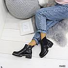 Женские демисезонные ботинки черного цвета, из эко кожи 41 ПОСЛЕДНИЕ РАЗМЕРЫ, фото 6
