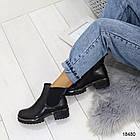 Женские демисезонные ботинки черного цвета, из эко кожи 41 ПОСЛЕДНИЕ РАЗМЕРЫ, фото 7