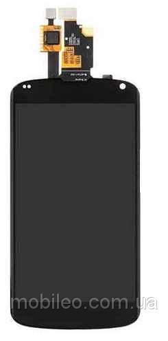 Дисплей (LCD) LG E960 Nexus 4 с тачскрином, чёрный, оригинал (PRC)