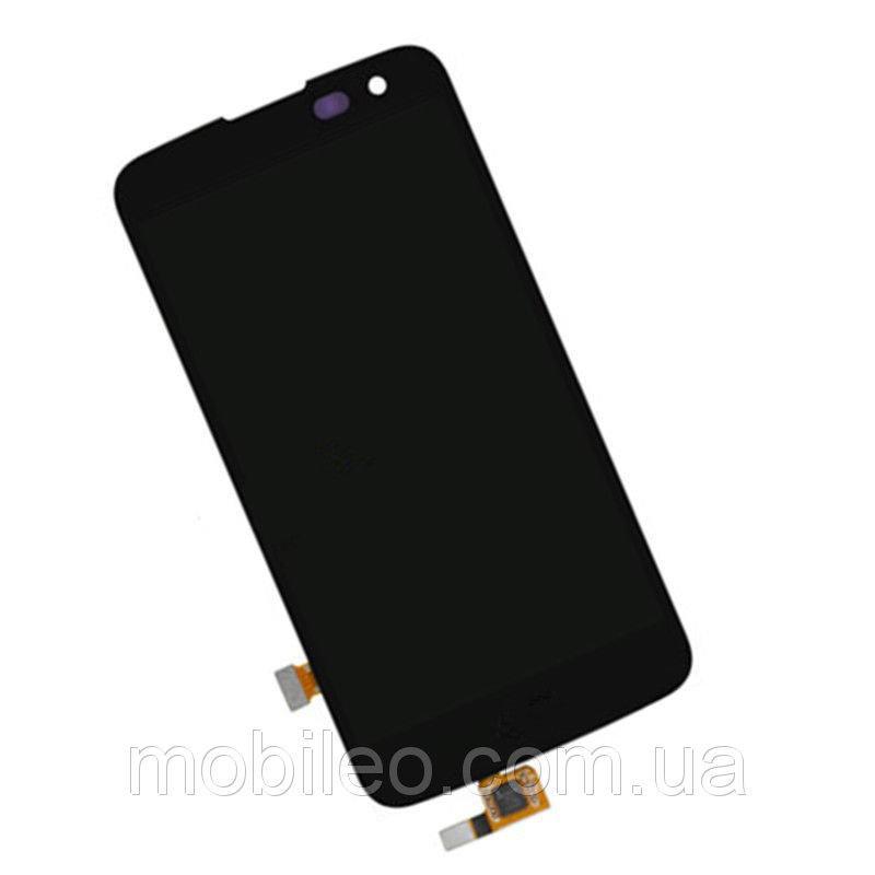 Дисплей (LCD) LG K120E K4 Lte | K121 | K130E с тачскрином, черный, оригинал (PRC)