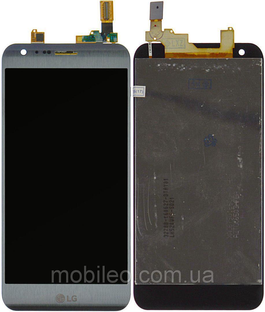 Дисплей (LCD) LG K580 X Cam с тачскрином серебристый