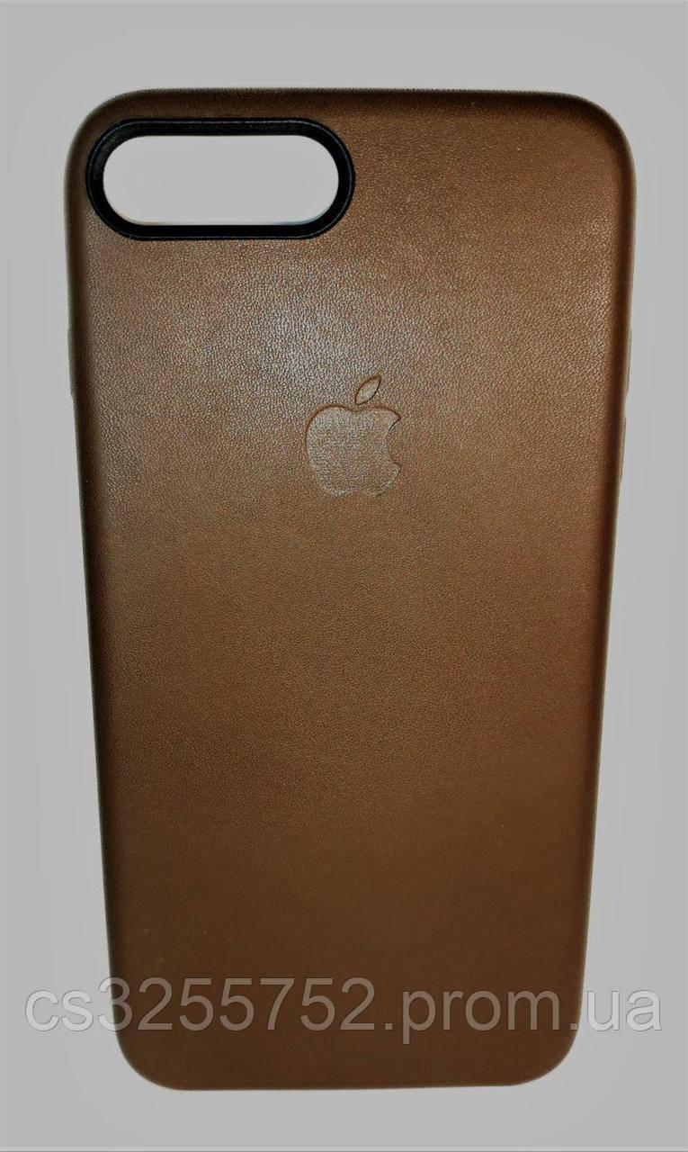 Накладка Iphone 7 plus кожа шоколад