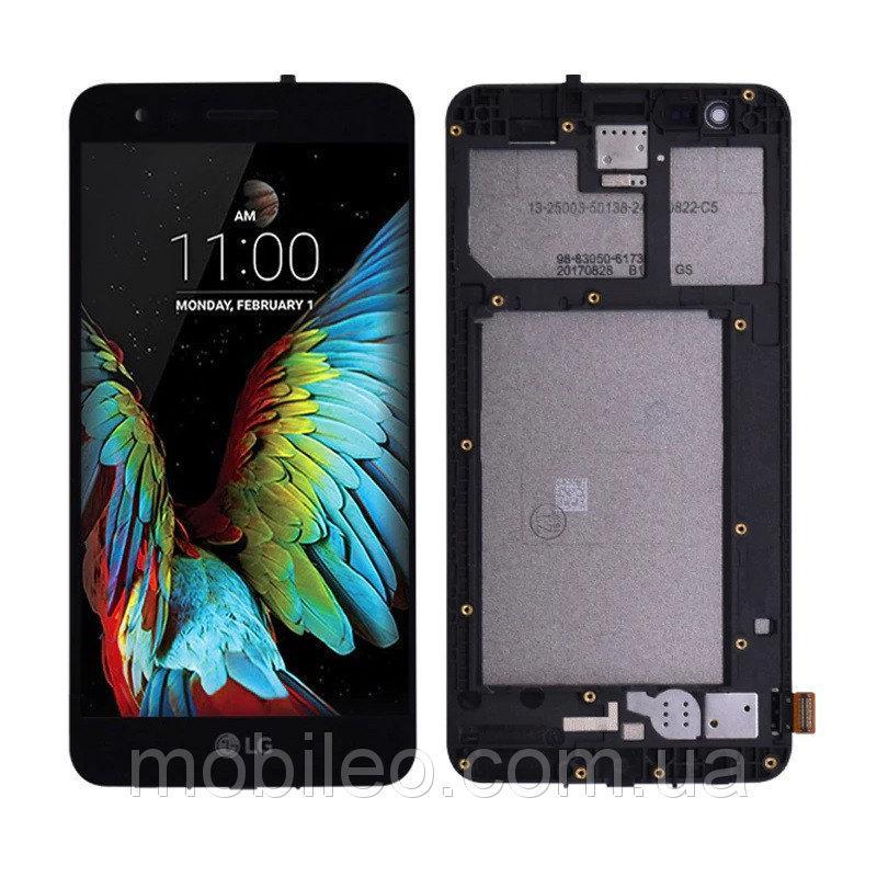 Дисплей (LCD) LG X230 K7 с тачскрином и рамкой, черный, оригинал (PRC)