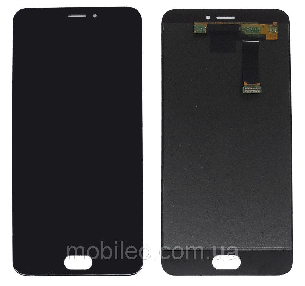 Дисплей (LCD) Meizu MX6 с тачскрином, чёрный