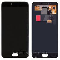 Дисплей (LCD) Meizu Pro 6 | M570 | Pro 6s AMOLED с тачскрином, чёрный, оригинал (PRC), фото 1