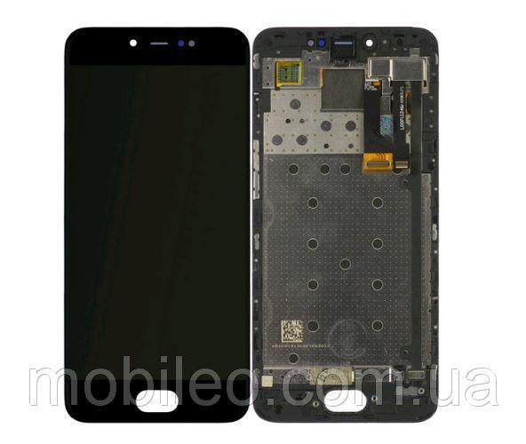Дисплей (LCD) Meizu Pro 6   M570   Pro 6s TFT с тачскрином и рамкой, чёрный