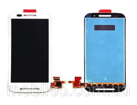 Дисплей (LCD) Motorola XT1021 Moto E | XT1022 | XT1025 с тачскрином, белый