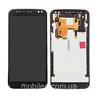 Дисплей (LCD) Motorola XT1572 Moto X Style   XT1570   XT1575 с тачскрином и рамкой, чёрный